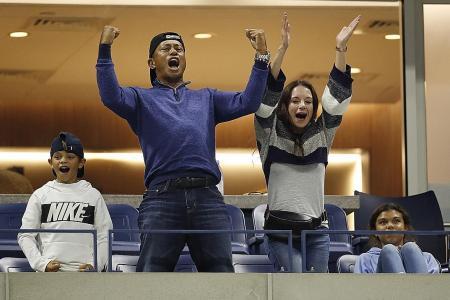 Rafael Nadal's 'idol' Tiger Woods roars him on to 40th Major q-final