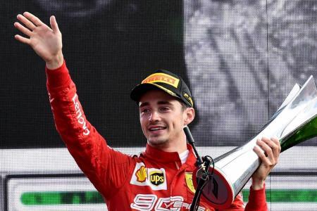 Ferrari's Charles Leclerc does an impressive Italian job