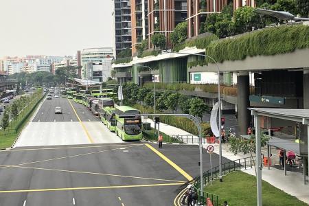 Buses stuck in long queues to enter new Yishun interchange