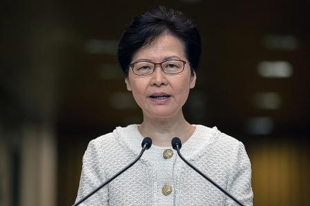 HK leader 'won't allow US interference' in protests