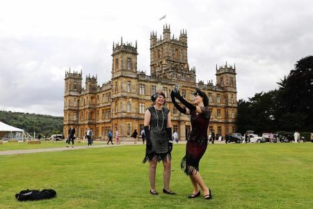 Fans flock to Downton Abbey castle ahead of film debut