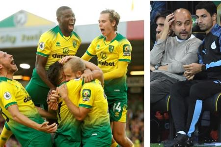 Norwich pull off 3-2 upset win over Man City