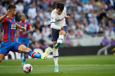 Son scores double as Spurs sink Palace 4-0
