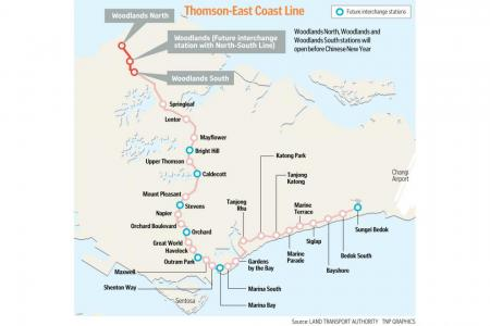 Three Thomson-East Coast Line stations to open in January