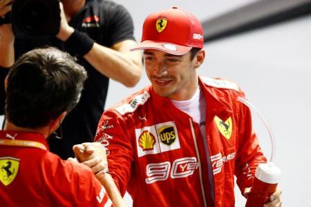 Leclerc grabs pole for Singapore GP