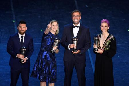 Messi named Fifa Player of the Year, Klopp named best coach