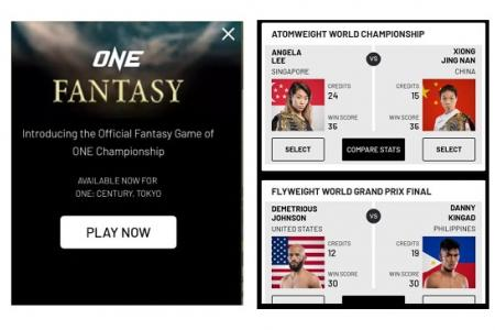 Pick your MMA fighters and earn points in ONE Fantasy game