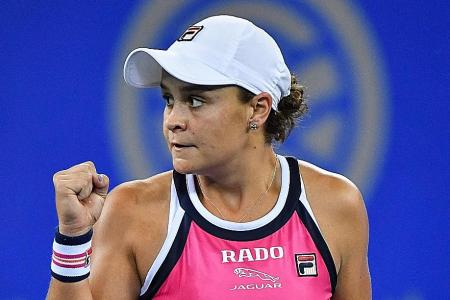 Ashleigh Barty in party mood after Wuhan win