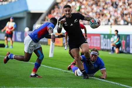All Blacks run riot with 11-try victory over Namibia
