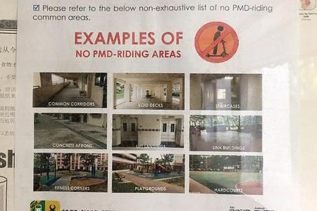 PMD user who hit girl at void deck: Why can't I ride here?