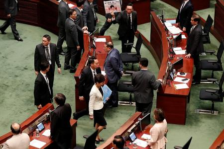 HK assembly disrupted for second day; lawmakers dragged out