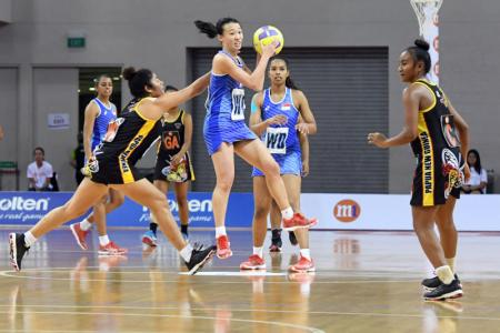 Singapore's netballers in M1 Nations Cup final