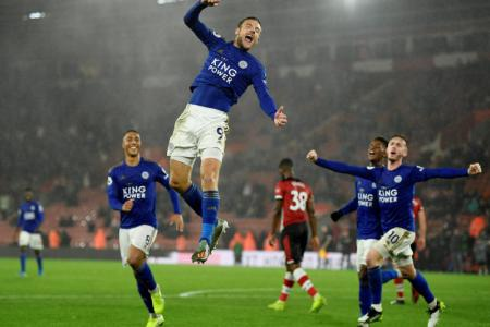Leicester equal EPL record win with 9-0 romp over Saints