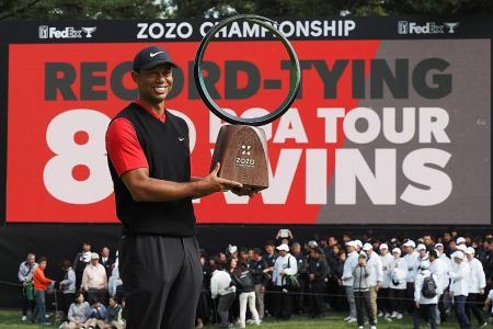 'Living legend' Tiger Woods records 82nd PGA Tour victory