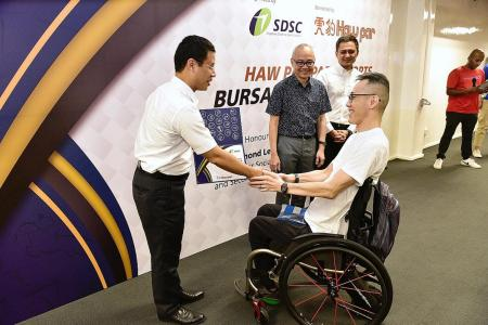 Haw Par Para Sports Bursary Awards give para-athletes a boost