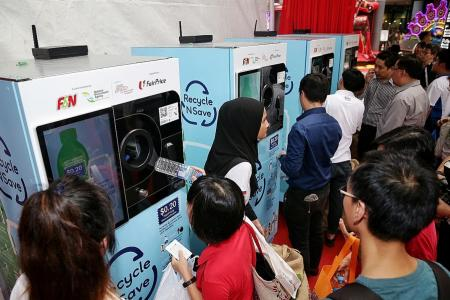 Recycle with these vending machines