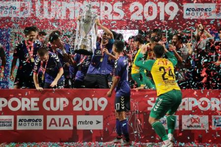 Tampines Rovers end trophy drought by lifting Singapore Cup