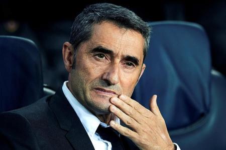 Barca coach Ernesto Valverde: We are under pressure after Slavia draw