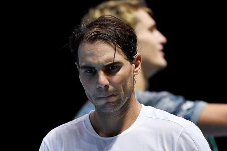 No excuse, says Rafael Nadal after losing to Zverev in ATP Finals