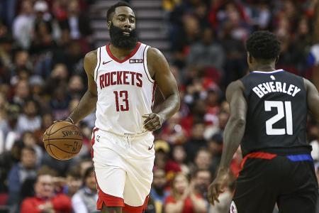 James Harden erupts as Houston Rockets down LA Clippers