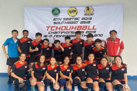 Singapore's tchoukball teams clinch fifth South-east Asian titles