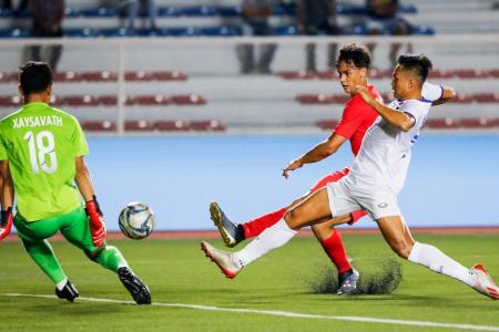 Fandi's Young Lions held 0-0 by Sundram's Laos