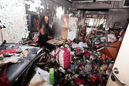 Elderly woman initially refused to evacuate burning flat