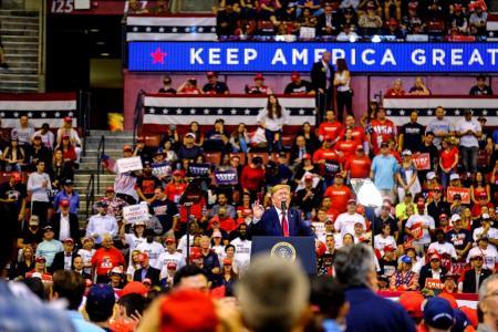 Trump rails against impeachment at Florida rally