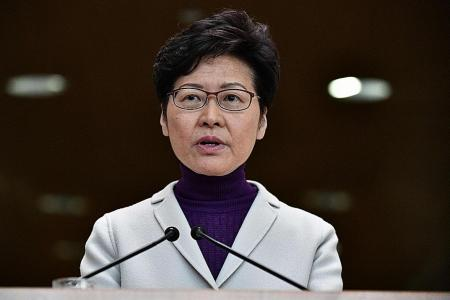Carrie Lam: America's HK law will hurt business confidence