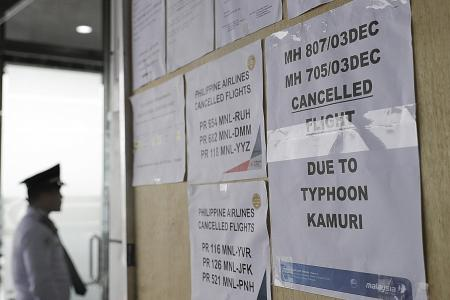 Philippine typhoon: 3 dead, flights and SEA Games events affected