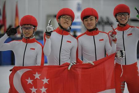 Double delight for Singapore's ice-skaters