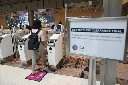 Contactless immigration trial now on at Changi Airport T4