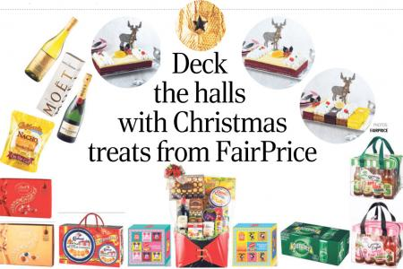 Deck the halls with Christmas treats from FairPrice