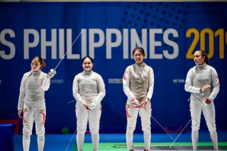 Singapore's women foil fencers clinch team gold