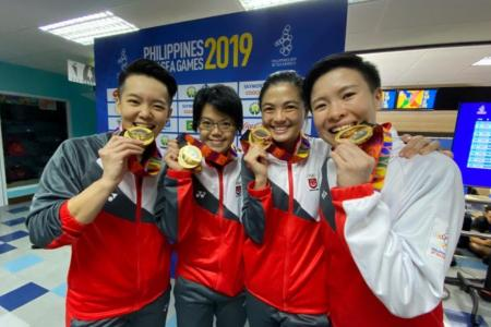 Singapore's women bowlers reclaim SEA Games team title after 8 years