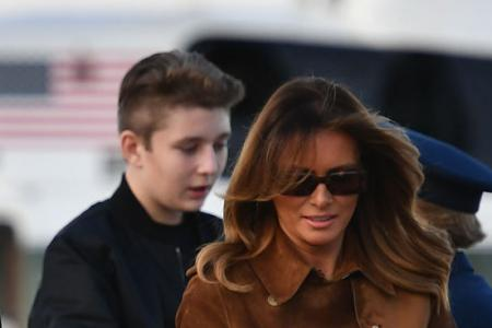 Melania defends son after prof's joke at hearing