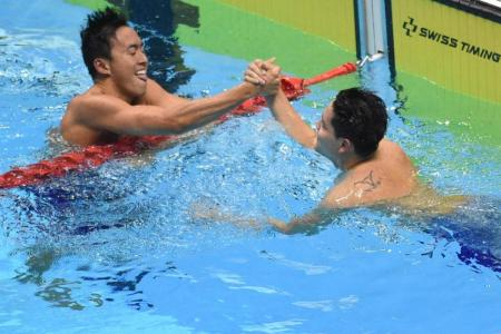 Schooling and Zheng Wen bring out the best in each other