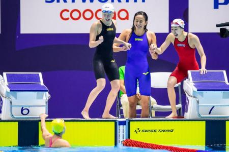 Another record for women's 4x100m free relay team as Ting Wen wins fourth gold