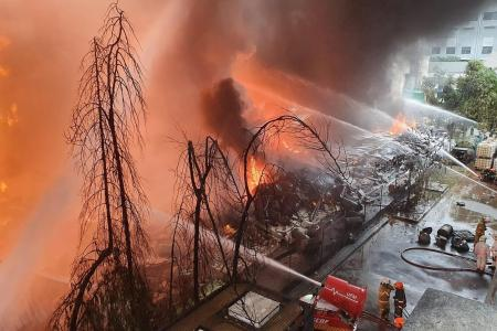 Fire engulfs waste management facility in Tuas