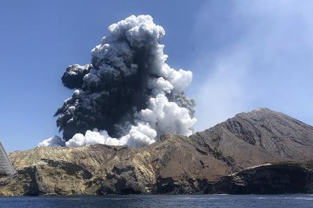 Her 'awe turned to fear' when volcano erupted
