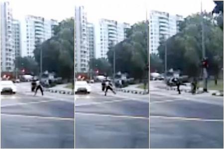 Certis Cisco officer suspended for kicking speeding e-scooter rider