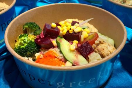 Healthy meals to-go at Supergreek