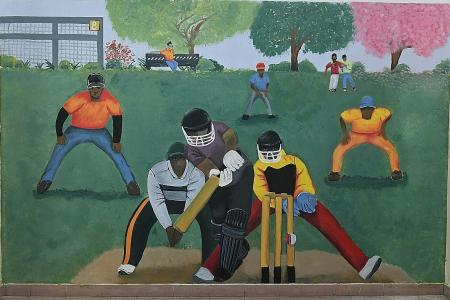 Youth on probation paint mural for foreign workers