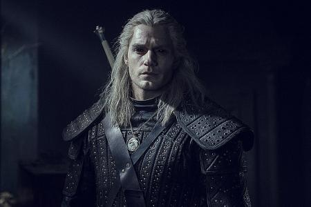 British actor Henry Cavill as Geralt of Rivia in The Witcher.