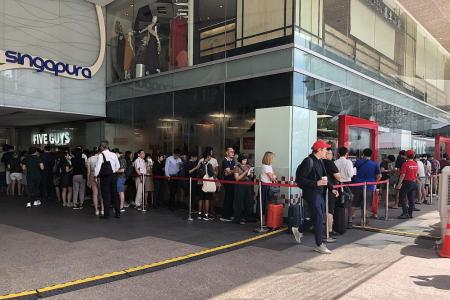 Why must the MRT break down on Five Guys' opening day?