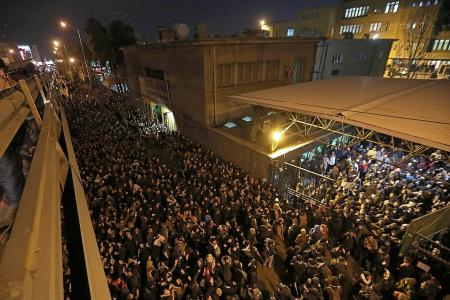 Iran protesters take to streets over downed plane