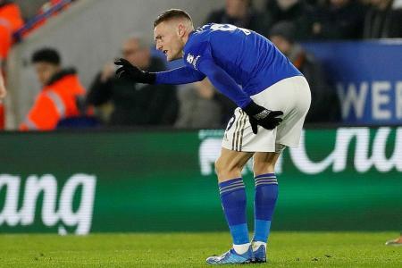 Brendan Rodgers plays down fears over Jamie Vardy's injury