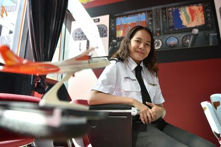 Student on course to fulfil dream of being a pilot