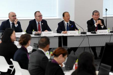 Toshiro Muto (second from far right)