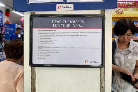 FairPrice imposes limits on purchases of some essential items